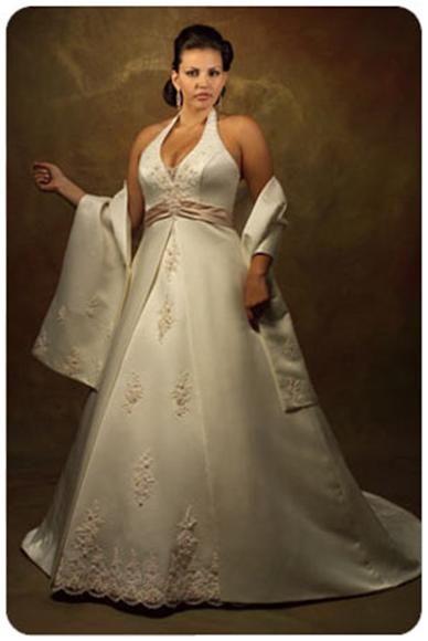 Свадебные платья для полных.  Фото.