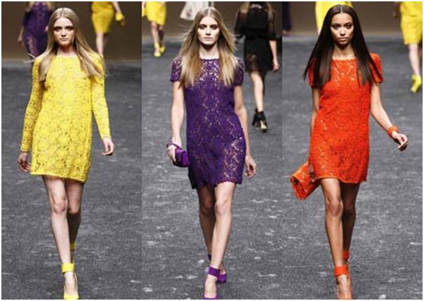 Модные кружевные платья 2012.