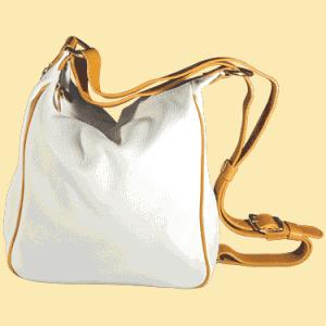 Белая сумка на/через плечо. подробнее.