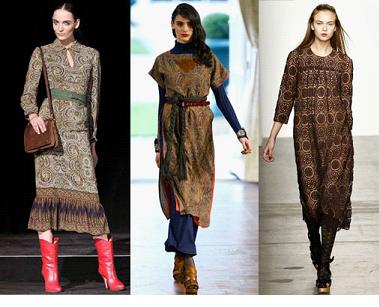В модной тенденции 2012 года будут платья с романтичными воланами...