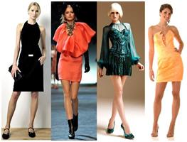Коктейльные платья 2011 - фото.  Женственно-романтический стиль как...